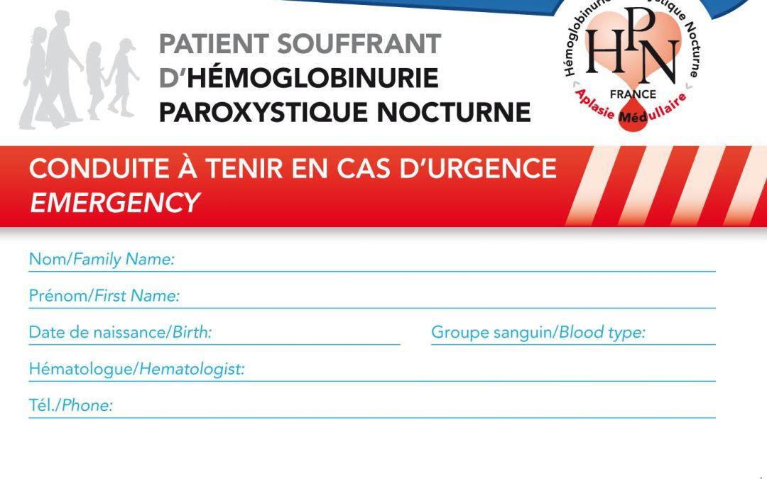 Conduite en cas d'urgence – Patient HPN