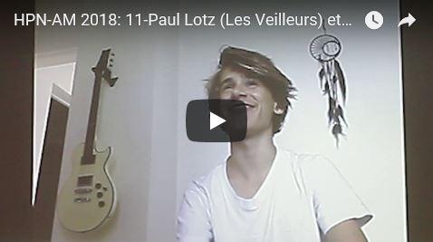 Journée HPN-AM 2018: 11-Paul Lotz (Les Veilleurs) et son témoignage sur la greffe de moelle osseuse