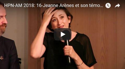 Journée HPN-AM 2018: 16-Jeanne Arènes et son témoignage sur l'Aplasie Médullaire et la greffe de moelle
