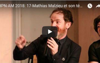 Journée HPN-AM 2018: 17-Mathias Malzieu et son témoignage sur l'Aplasie Médullaire et la greffe de moelle