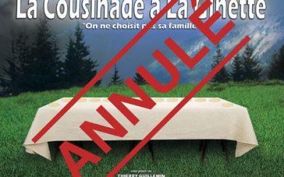 La Cousinade à la Ginette en Avril 2020 => Spectacle Reporté en 2021