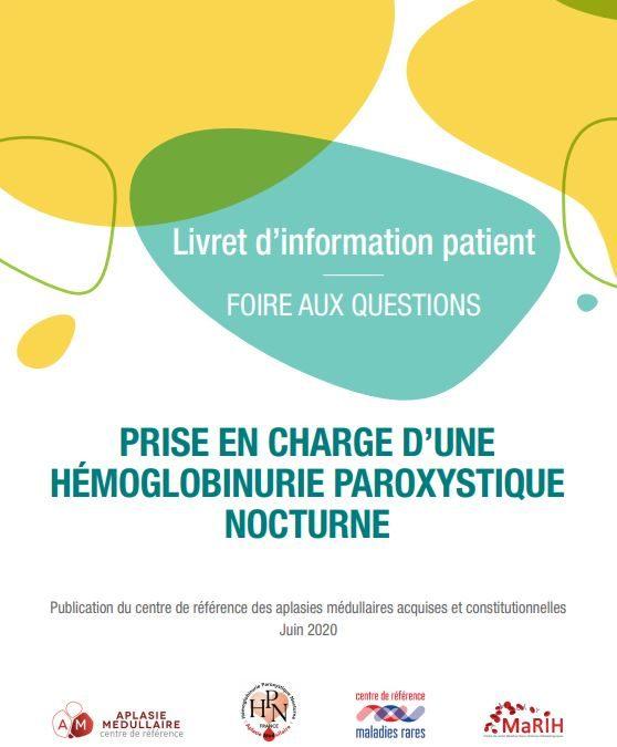 Nouveau Livret d'infos pour les patients atteints d'HPN en Juin 2020
